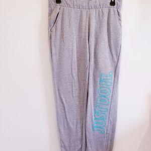 Nike dri fit gray jogger pants size S